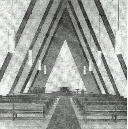 Church interior, old photo cropped